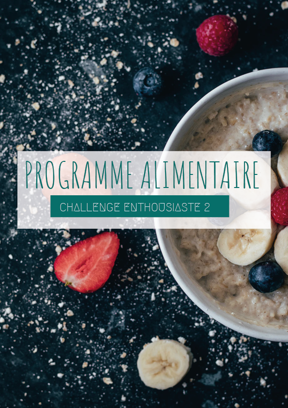 Guide alimentaire challenge enthousiaste